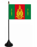 Commando Training Centre Royal Marines Desk / Table Flag with plastic stand and base.